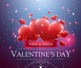 Valentine day red heart backgrounds art vector 06