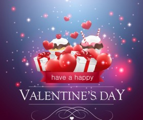 Valentine day red heart backgrounds art vector 07