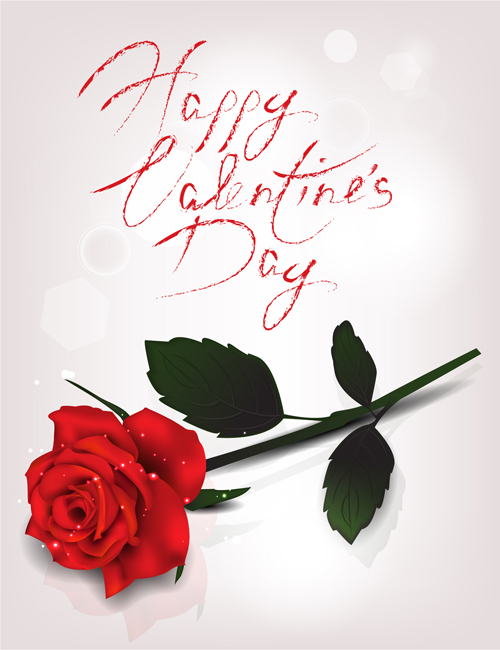 valentine day red rose card vector 02 - vector car, vector heart, Ideas