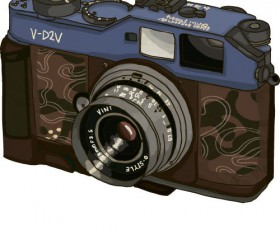 Vintage camera hand drawing vectors set 05