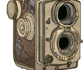 Vintage camera hand drawing vectors set 08