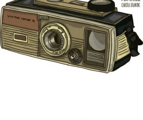 Vintage camera hand drawing vectors set 09