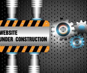 Website under construction vector material 02