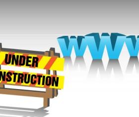 Website under construction vector material 03