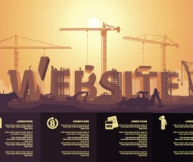 Website under construction vector material 04