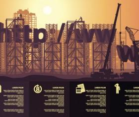 Website under construction vector material 05