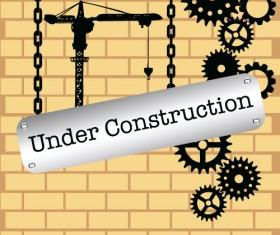 Website under construction vector material 07