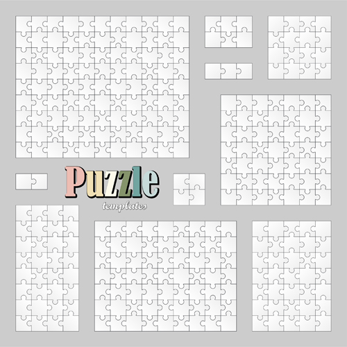 White pizzle template vector 03