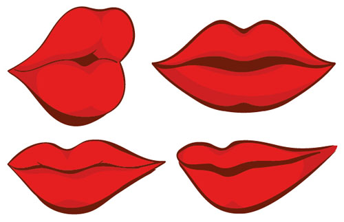 woman red lips design vector 01 free download rh freedesignfile com lips vector file lips vector free download