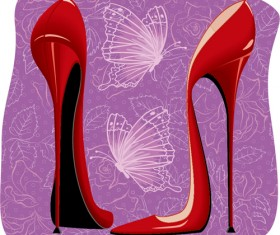Women high-heeled shoes vector illustration 01