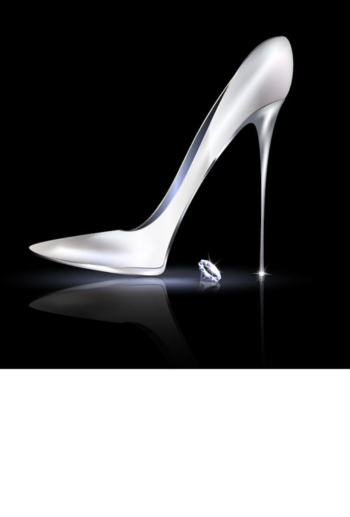 high heeled shoes vector illustration 04 vector