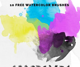 10 Kind Watercolour Photoshop Brushes