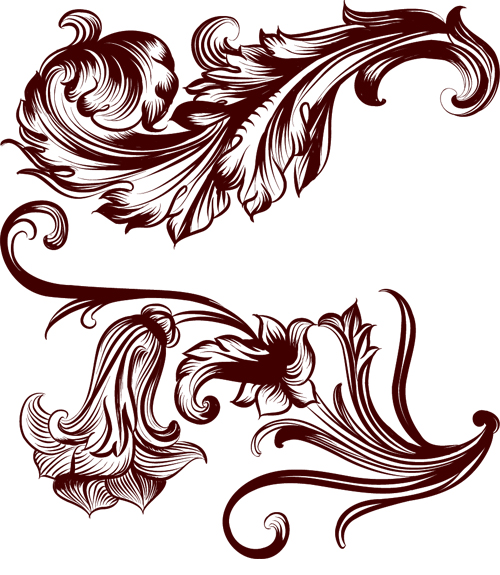 2 Kind vintage floral brushes - Photoshop Brushes free download