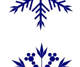 2 kind snowflake photoshop brushes