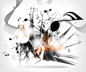 Abstract music fashion vector design