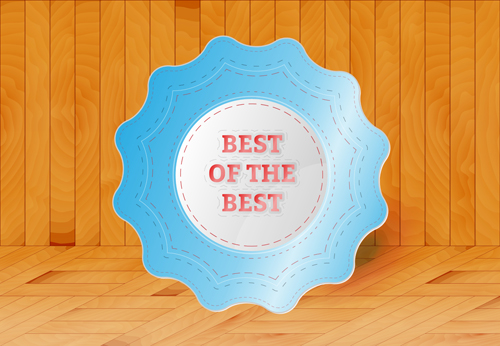 Best product badges vector material 03