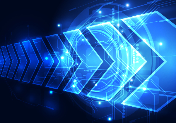 Blue Tech Futuristic Background Vector 01 Free Download