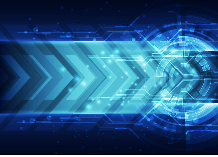 Blue Technology: Blue Tech Futuristic Background Vector 07 Free Download