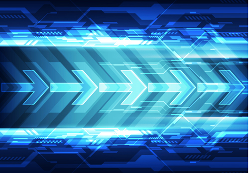 Futuristic Hi Tech Background Vector: Blue Tech Futuristic Background Vector 10