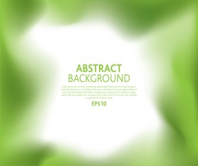 Blurs abstract green background vector