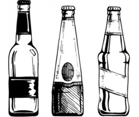 Bottles hand drawing vector design 02