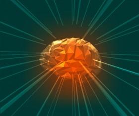 Brain geometric shapes vector illustration 09
