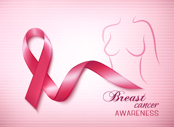 Breast cancer awareness advertising posters pink styles vector 01