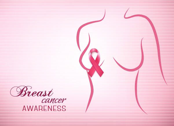 Breast cancer awareness advertising posters pink styles vector 02