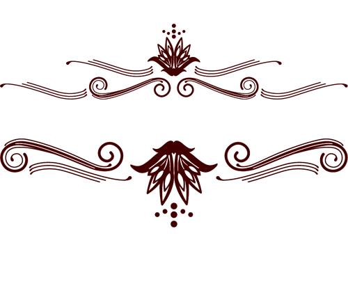 Calligraphic With Border Brushes Photoshop Brushes Free