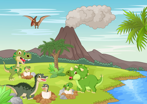 dinosaur landscape background - photo #14