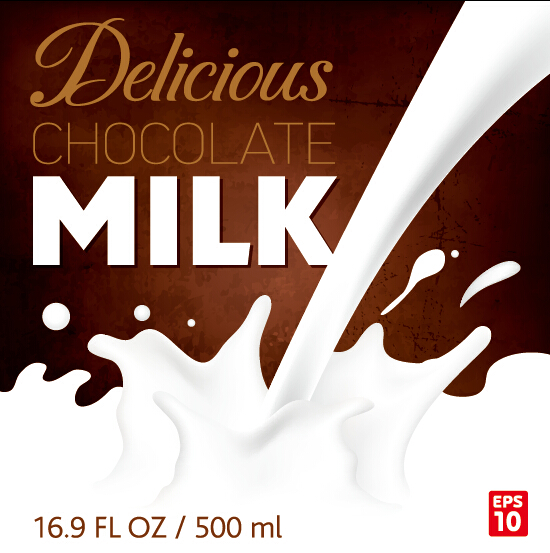 Chocolate Milk Poster Creative Vectors 01