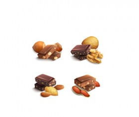 Chocolate with nut vector material