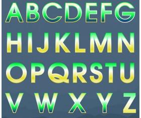 Colored gradients alphabets vector 01