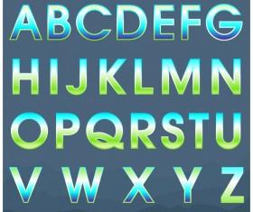 Colored gradients alphabets vector 02