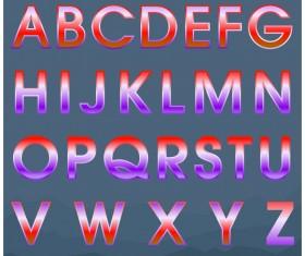 Colored gradients alphabets vector 03