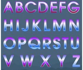 Colored gradients alphabets vector 04