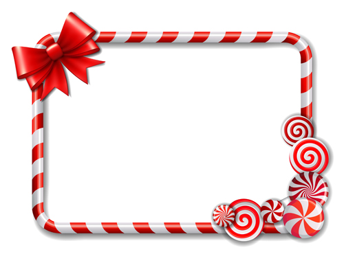 cute candy frames vector material 03