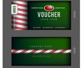 Dark green gift voucher template vector