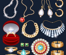 Different Jewelry design vector