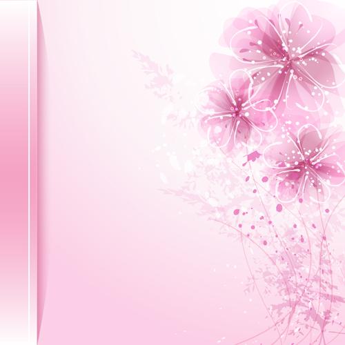 Free Ppt Backgrounds Desktop Wallpaper Flower Pink Lotus: Dream Background With Flower Design Vector 04 Free Download