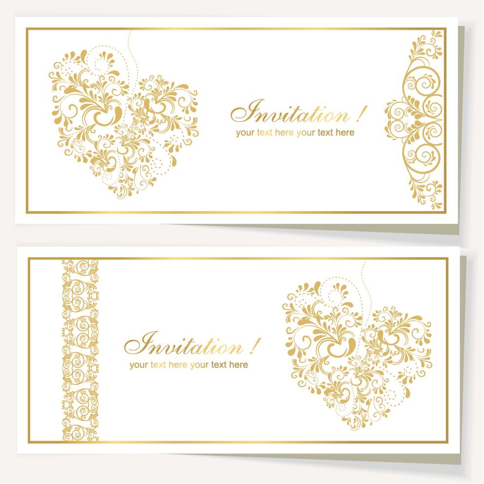 elegant wedding invitation cards designs yaseen for With elegant wedding invitations eps