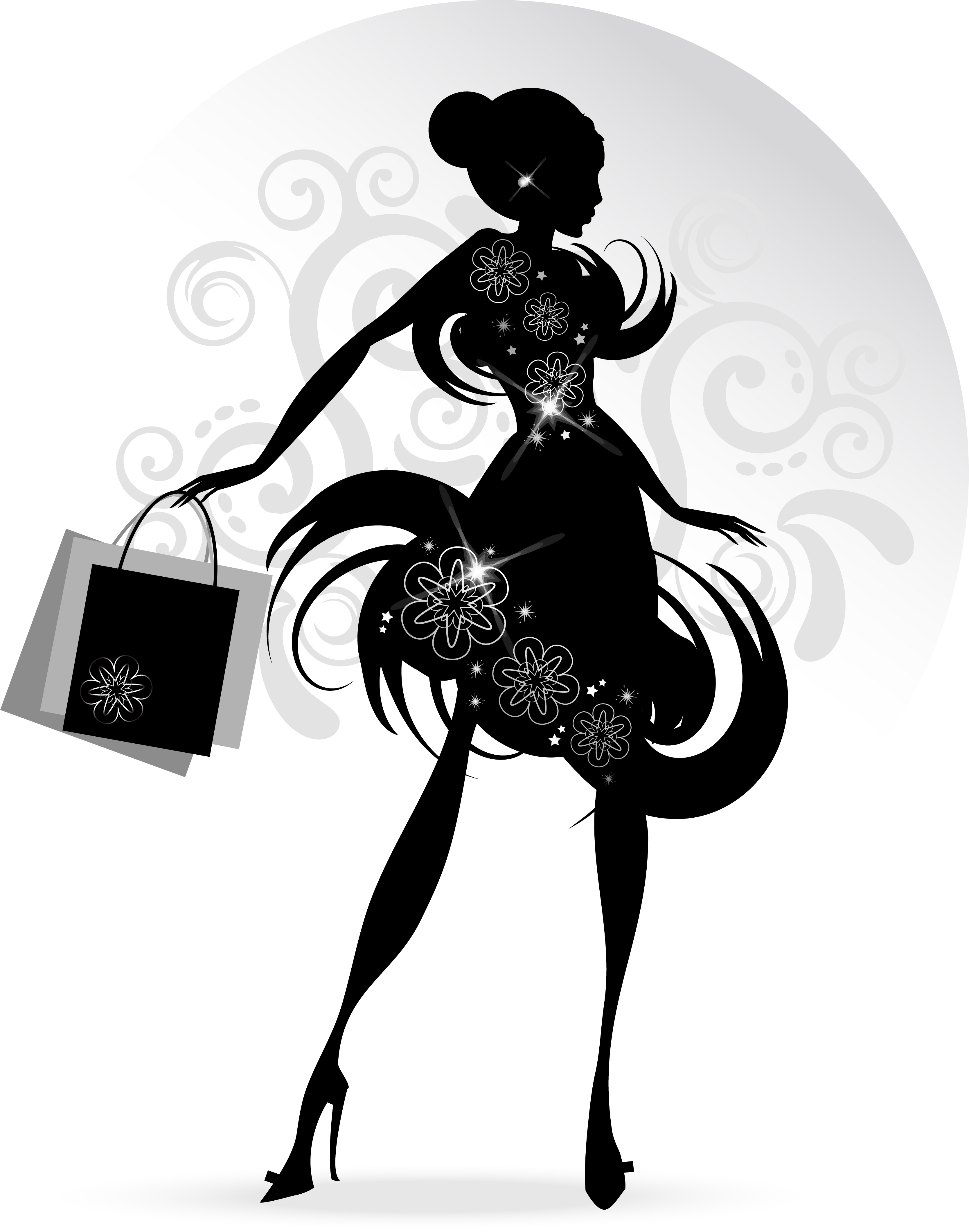 Fashion Girl With Shopping Vectors 07 Free Download