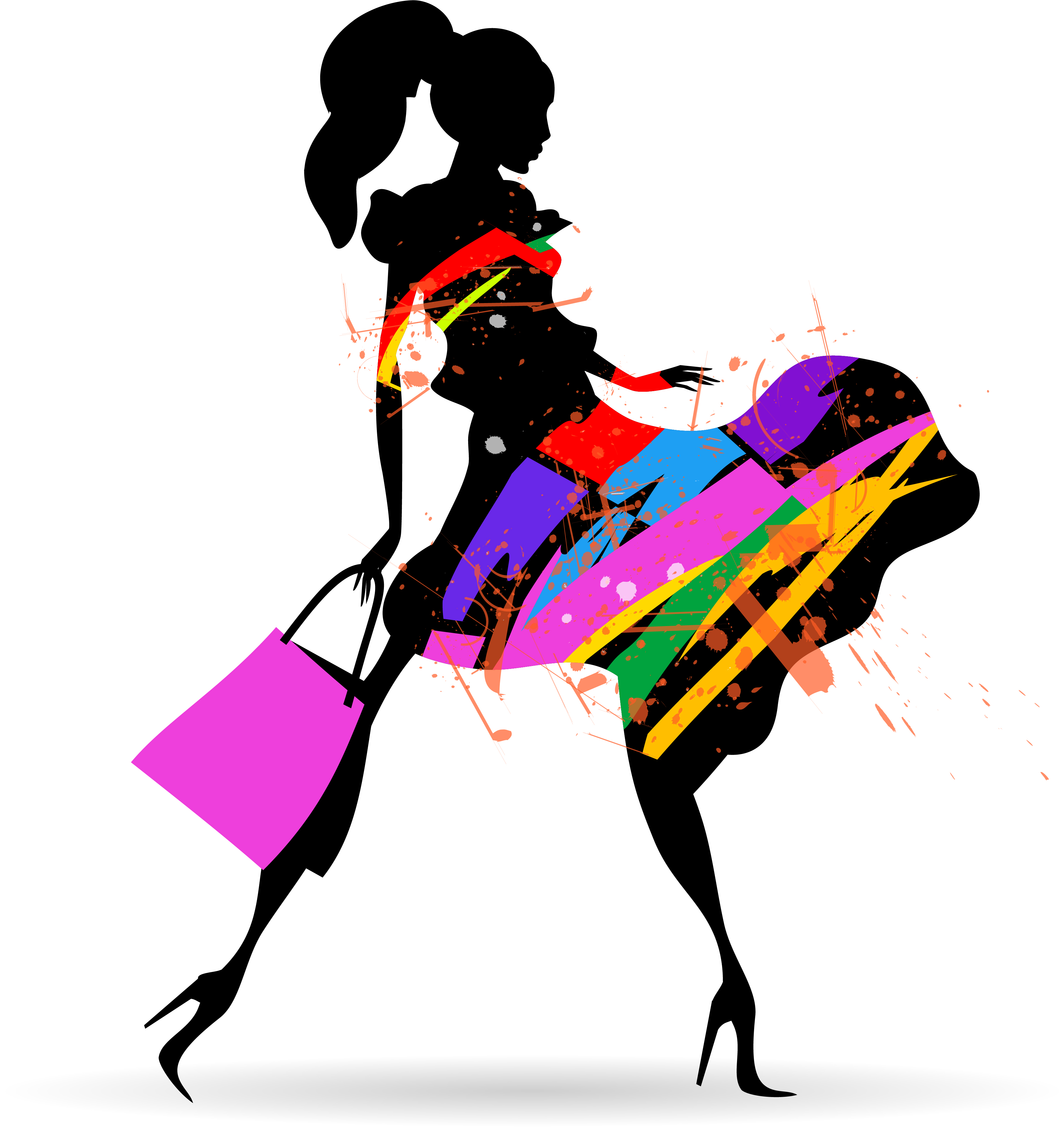 fashion girl with shopping vectors 10 free download rh freedesignfile com fashion vectors illustrator fashion vector free download