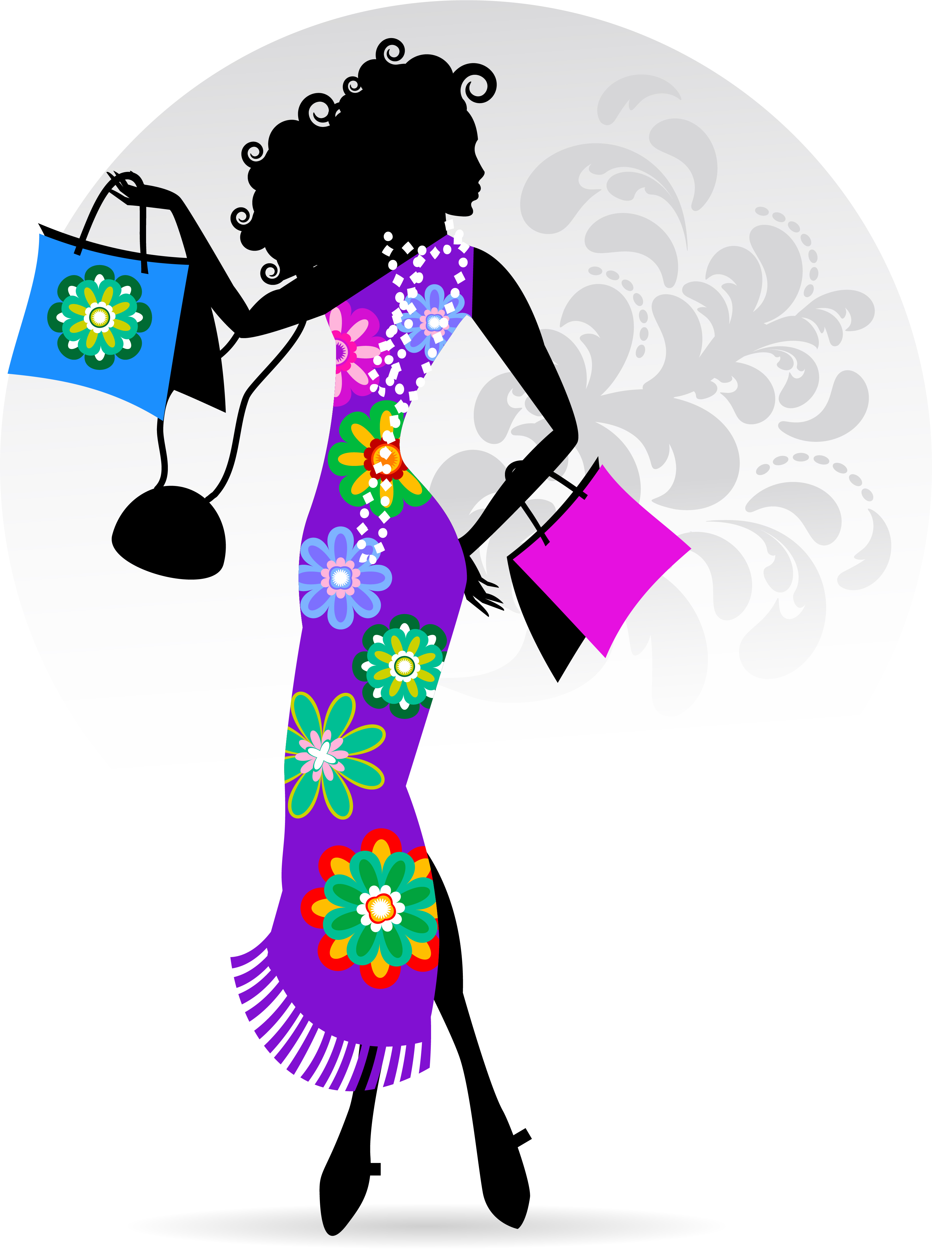 Fashion Girl With Shopping Vectors 15 Free Download