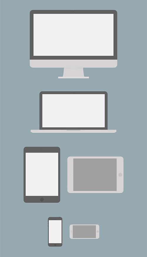 Flat Apple Device Mockups Psd template