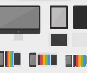 Flat Apple Devices creative psd material