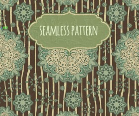 Floral seamless pattern with silk vectors 02