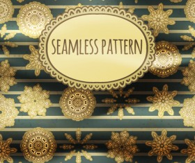 Floral seamless pattern with silk vectors 04