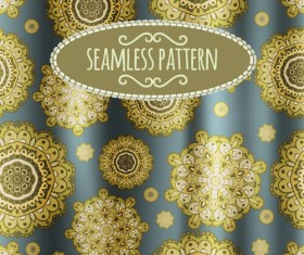 Floral seamless pattern with silk vectors 06