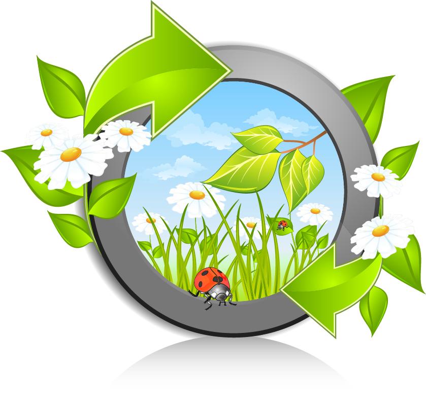 Годиком открытки, эмблема экологии в картинках